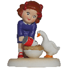 Campbell Kids™ Six Geese-a-Laying Figurine