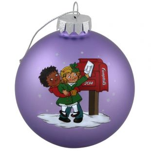 Official Campbell Soup Company Collectibles and Cookbooks |RETIRED 2014 Campbell Kids� Annual Dated Ball Ornament