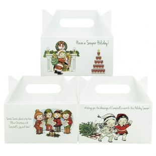 Official Campbell Soup Company Collectibles and Cookbooks |Campbell's Holiday Gable Boxes- Set of 3