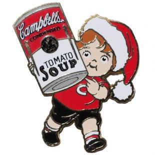 Official Campbell Soup Company Collectibles and Cookbooks |Campbell Kids� Lapel Pin - Santa Hat
