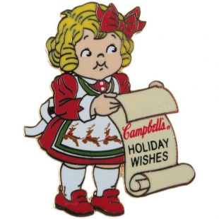 Official Campbell Soup Company Collectibles and Cookbooks |Campbell Kids� Lapel Pin - Wish List
