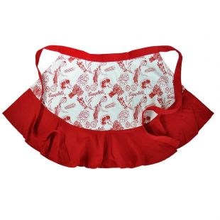 Official Campbell Soup Company Collectibles and Cookbooks |Campbell's Vegetable Red Half Apron