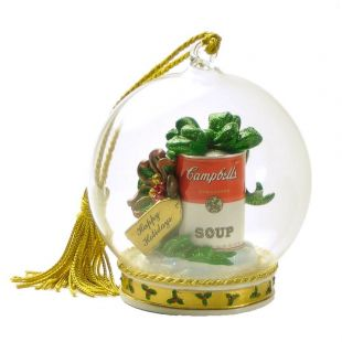 Official Campbell Soup Company Collectibles and Cookbooks |Campbell's� Festive Can Memory Globe