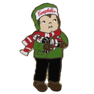 Official Campbell Soup Company Collectibles and Cookbooks |Campbell Kids� Lapel Pin - Bundled Up