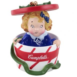 Official Campbell Soup Company Collectibles and Cookbooks |Campbell Kids� Hat Box Ornament
