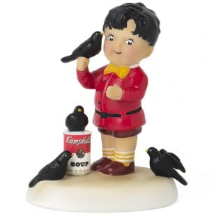 Official Campbell Soup Company Collectibles and Cookbooks |Campbell Kids Four Calling Birds Figurine