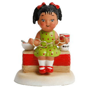Official Campbell Soup Company Collectibles and Cookbooks |Campbell Kids� Five Golden Rings Figurine