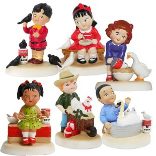 Official Campbell Soup Company Collectibles and Cookbooks |Holiday Figurine Collectors Starter Set
